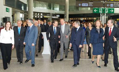 The King and Queen of Spain open Malaga airport's new Terminal 3