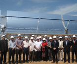 Arab League delegation visits ACCIONA´s solar thermal/CSP facility in Alvarado (Badajoz, Spain)
